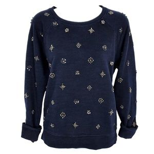 J CREW BLACK LABEL | Beaded Star Pullover Medium